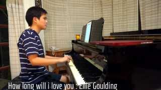 How Long Will I Love You - Ost. About Time (waterboys , Ellie Goulding) Piano cover. Free note