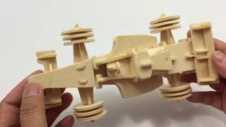 DIY Miniature Formula1 ~ Woodcraft Construction Kit