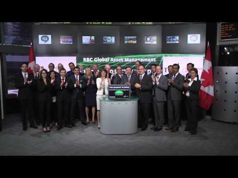 RBC Global Asset Management opens Toronto Stock Exchange, May 12, 2015