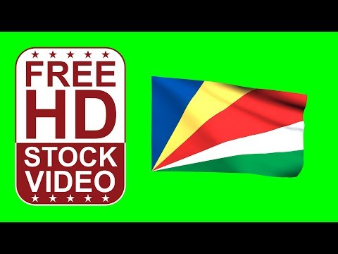 FREE HD video backgrounds – Seychelles flag waving on green screen 3D animation