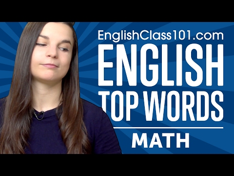 Learn the Top 10 Must Know Math Words in English