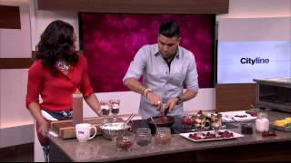 Strawberry, Raspberry And Brownie Trifle