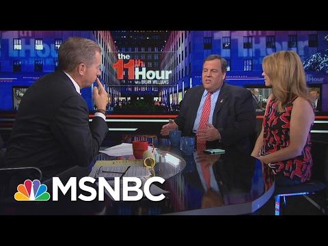 Governor Chris Christie Defends President Trump: