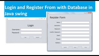Login And Registration Form With Database In Java Swing