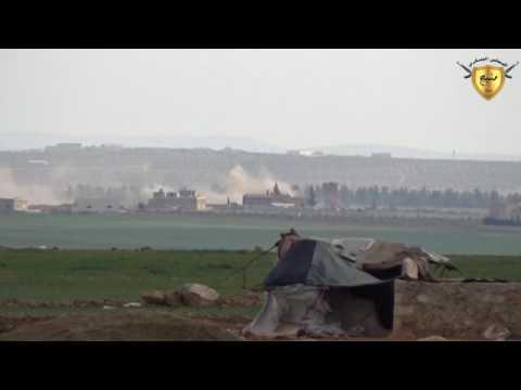 قصف مدفعي على البوغاز والخالدة غربي منبج 8_3_2017