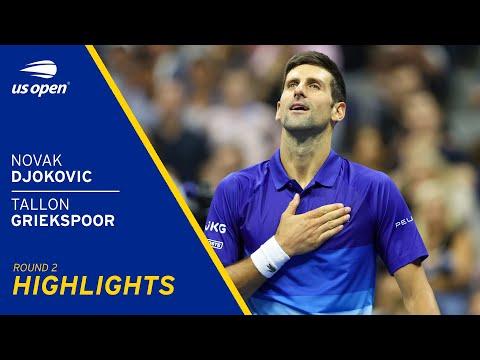 Novak Djokovic vs Tallon Griekspoor Highlights | 2021 US Open Round 2