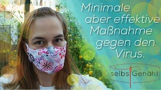 Behelfs-Maske nähen + Tipps ~aus 1 Schnitteil mit Filtertasche~