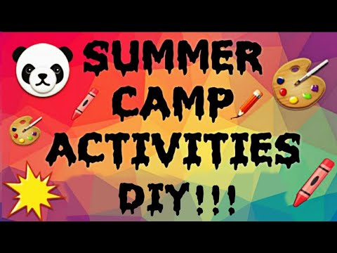 Easy and Creative Summer camp activities for kids 2019 |DIY Fun Ideas /rainy day activities for kids