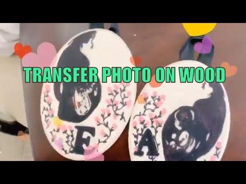 DIY transfer photo on wood