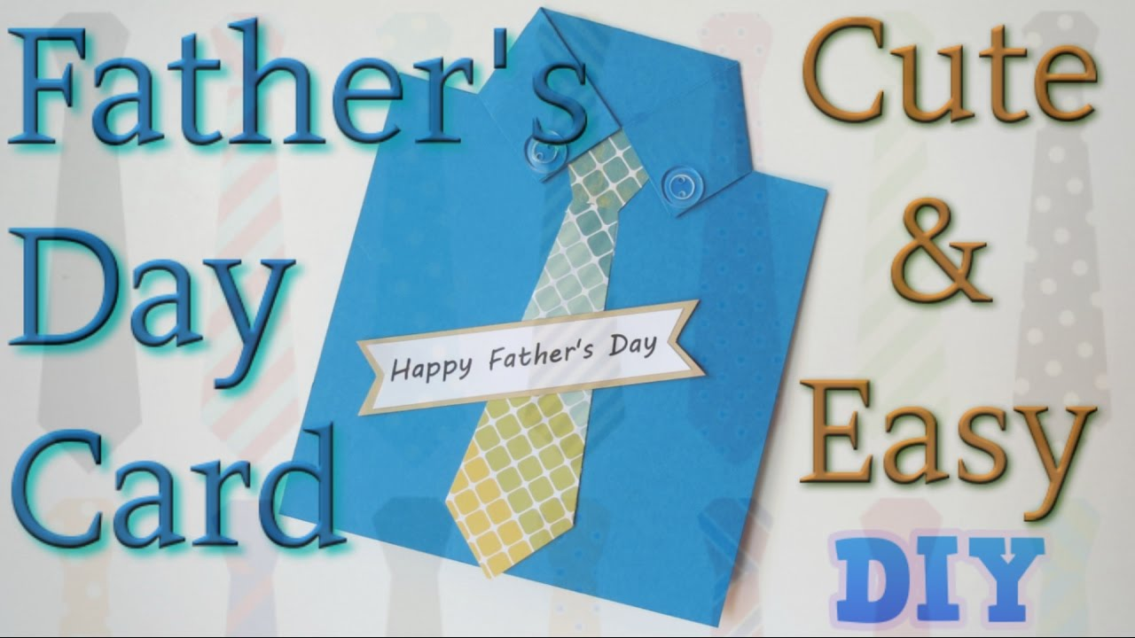 simple and easy handmade father s day card shirt and tie card diy