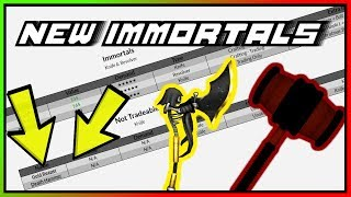 LOOKING AT THE NEW IMMORTALS IN ROBLOX MMX!