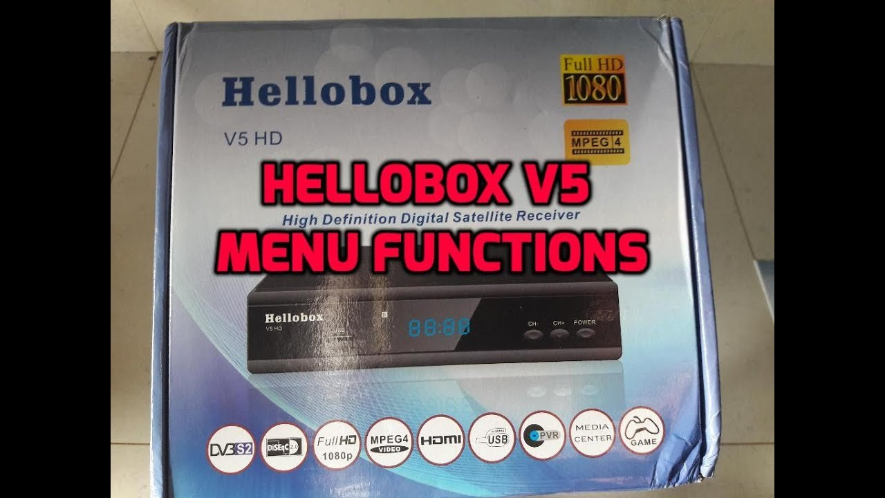 Hellobox V5 HD Menu Functions
