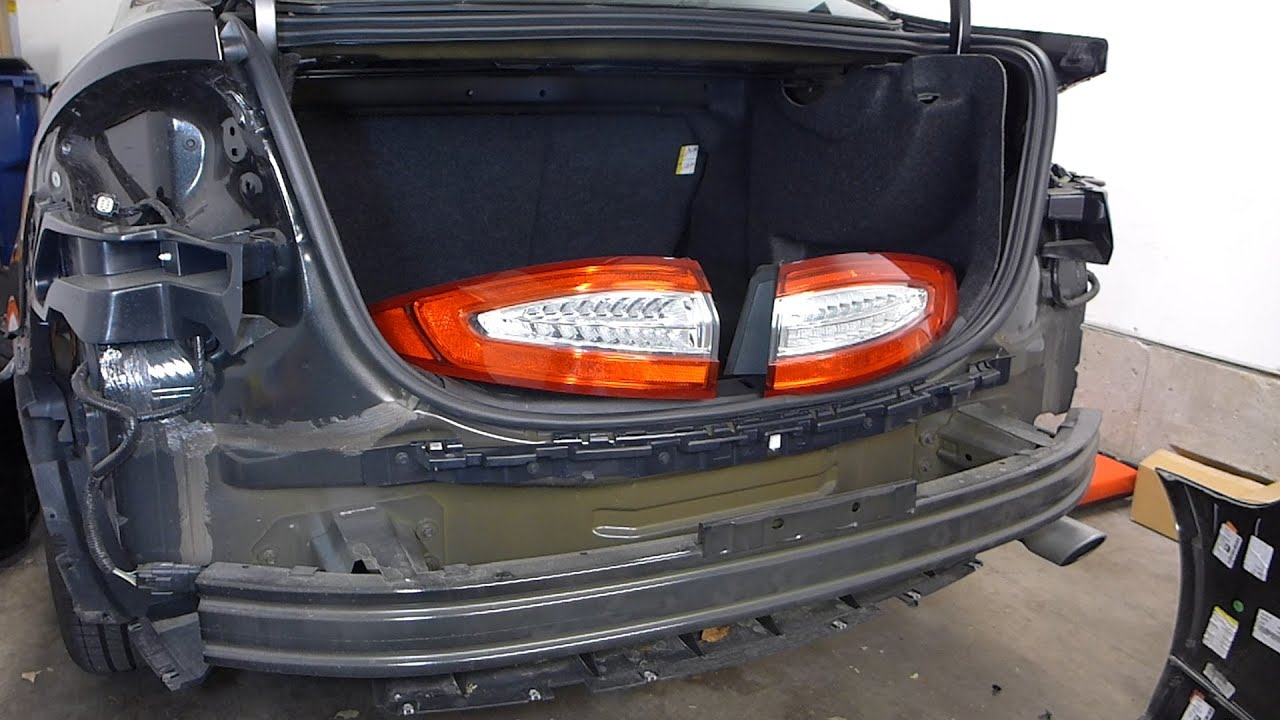 Ford fusion rear bumper cover and taillight removal 2013 second gen youtube