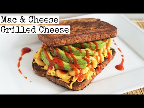 Vegan Mac and Cheese Grilled Cheese Sandwich