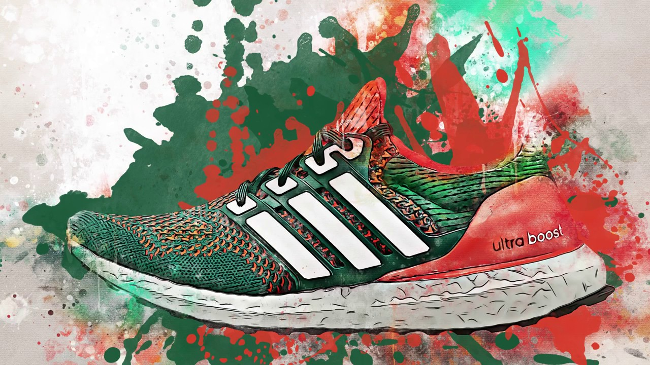 "c2a0d749e Adidas Ultra Boost ""Miami Hurricanes"" - YouTube"