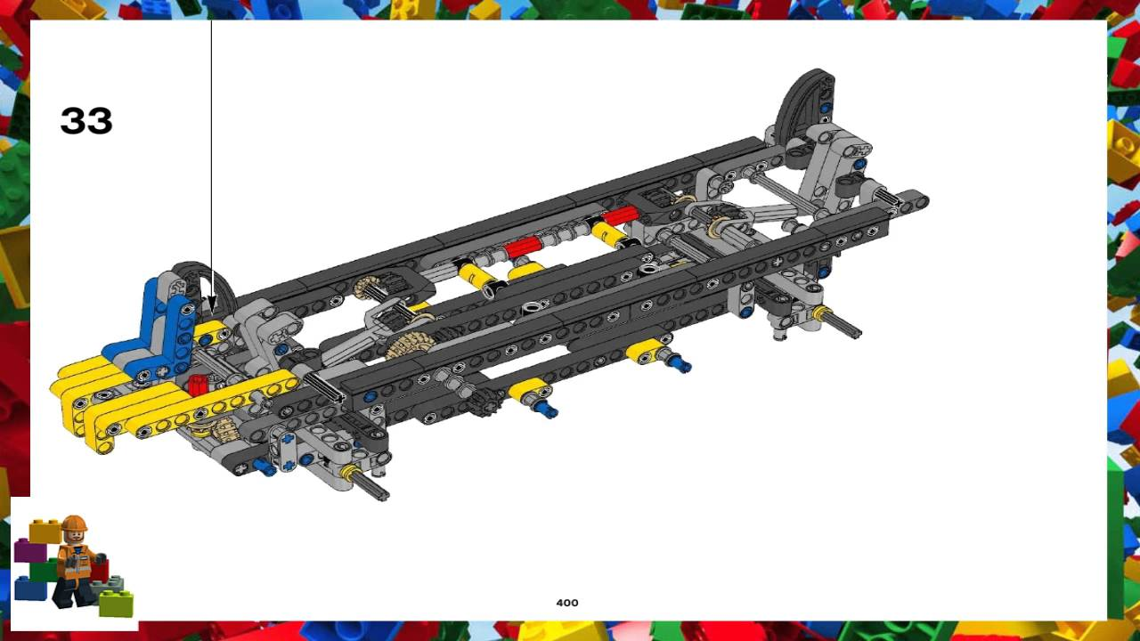 Lego Instructions Technic 42009 Reach Stacker Book 5 Youtube