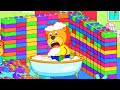Lion Family 🍒 Playhouse of Lego | Cartoon for Kids