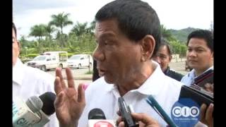 Mayor Rody Duterte on the Senate hearing on rice smuggling