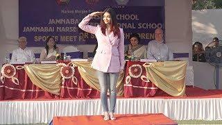Aishwarya Rai Visits Her School Jamnabai Narsee School For Sports Day Function