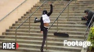 Nyjah Huston Dodges Cops & Frontside Bluntslides La Jolla 18