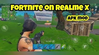 Fortnite on Realme X Screen Recording (APK MOD)