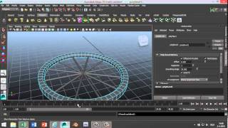 Maya 2014 tutorial : How to model a spoked wheel