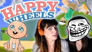 Sister's First Time Playing Happy Wheels: SAVE THE BABY!!!!!! (Funny Moments)