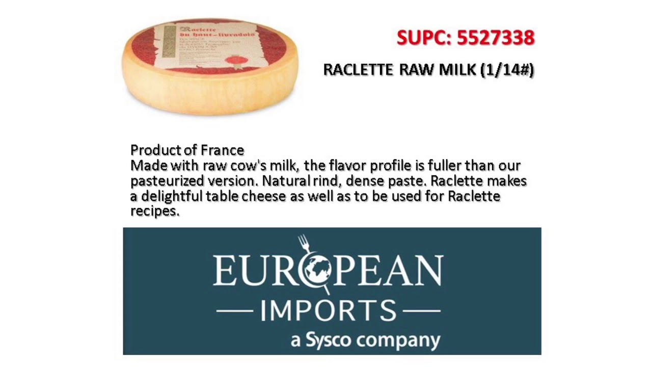 Raclette Cheese - European Imports - YouTube