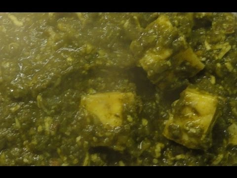 Delicious Palak (Spinach) Paneer - an Indian Vegetarian Recipe.
