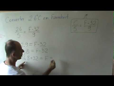 Conversão Celsius Fahrenheit