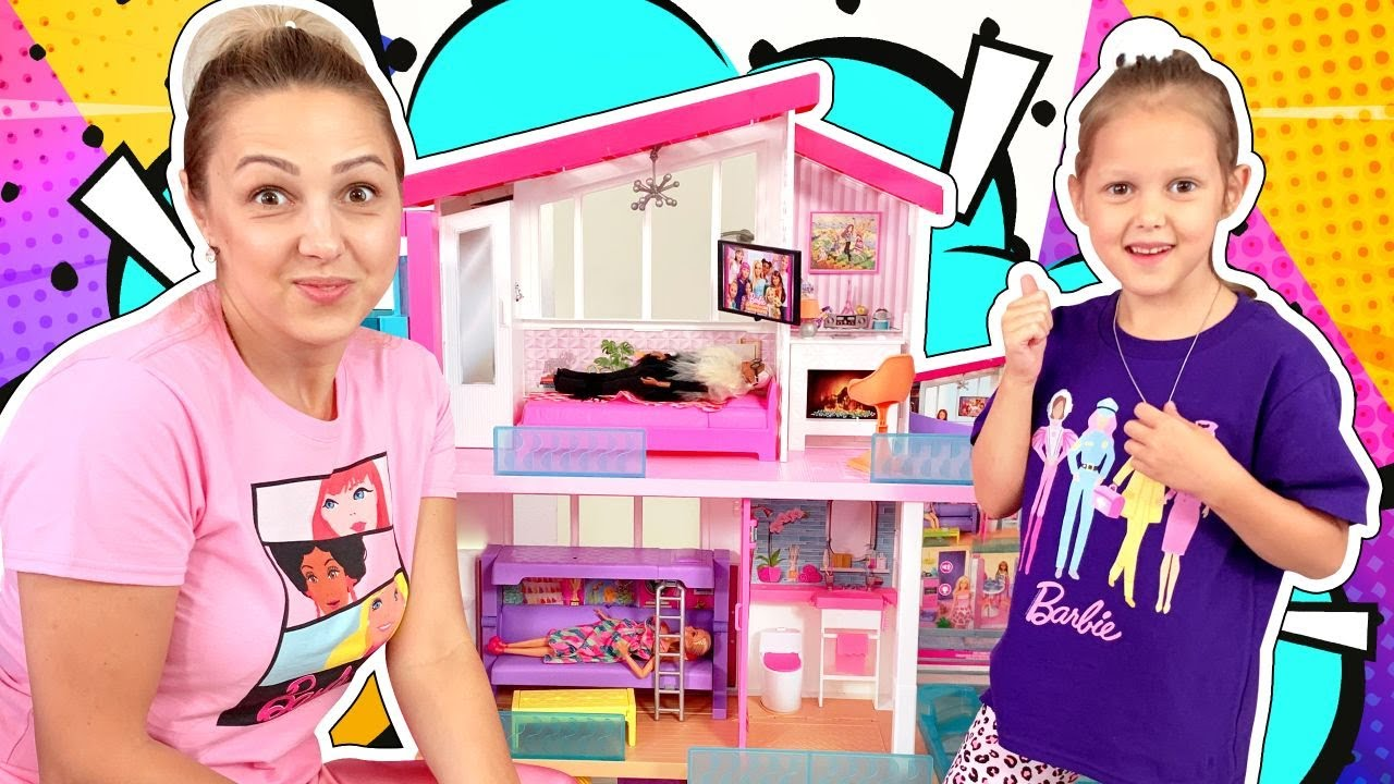 АМЕЛЬКА Дизайнер Одежды! Показ мод для Мамы! Приз: Новый Дом для Барби!