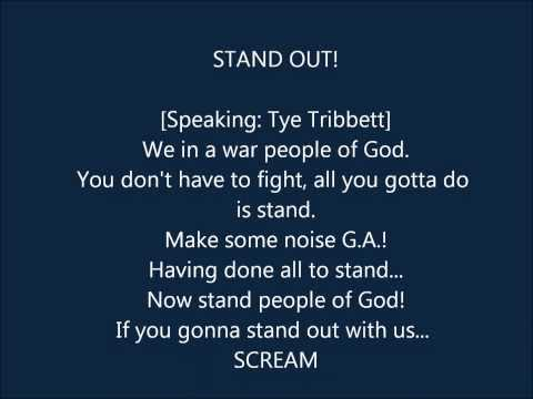 TYE TRIBBETT - STAND OUT LYRICS