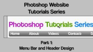 Photoshop Website Design Tutorial 1 - Getting Started With Menu Bar And Header Design