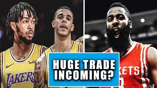 huge los angeles lakers trade incoming james harden historical night breaking the nba news alert