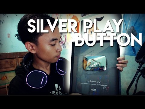 100K SILVER PLAY BUTTON THE DREAM CRAFT 😍