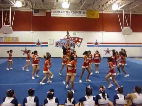 Harrison Middle School Cheerleaders Parent night at Polk