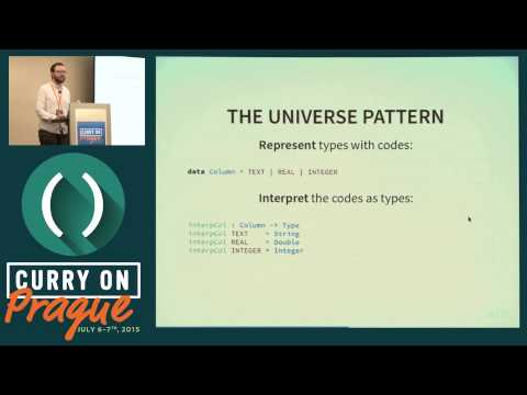 David Christiansen - Coding for Types: The Universe Patern in Idris - Curry On