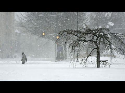 Time lapse of Washington D.C snowstorm