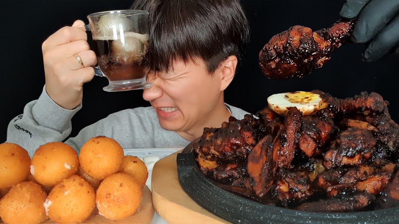 60계 짜파치킨 크림치즈볼 먹방 asmr mukbang Chicken