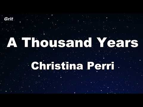 A Thousand Years - Christina Perry Karaoke 【With Guide Melody】 Instrumental