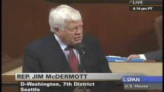 "Rep. McDermott ""Paulson can throw a pass to himself"""