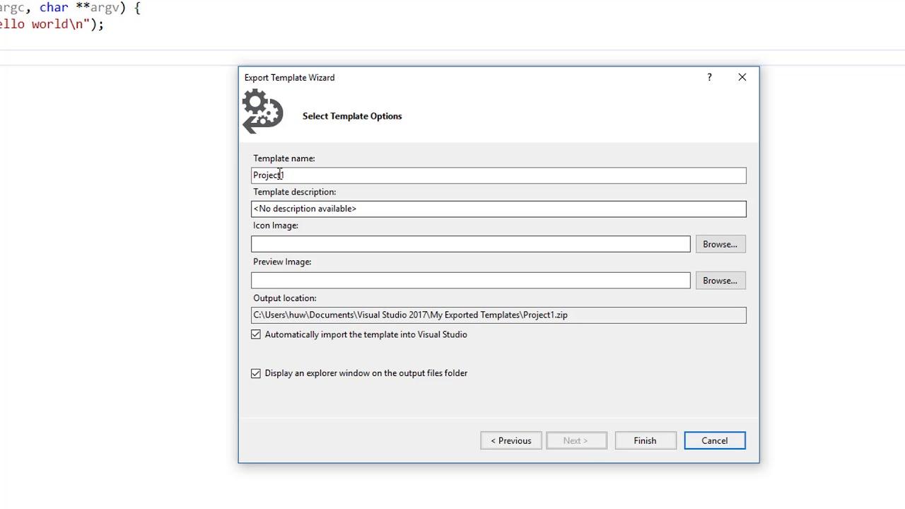 How to create custom Visual Studio file templates