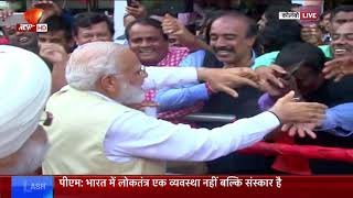 PM Modi greets with the Indian community in the Sri Lanka