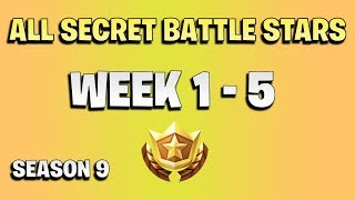 All secret battle stars week 1 - 5 - Fortnite season 9