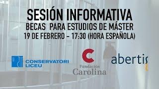 Sesión Informativa: Becas de la Fundación Carolina para el curso 2018/19