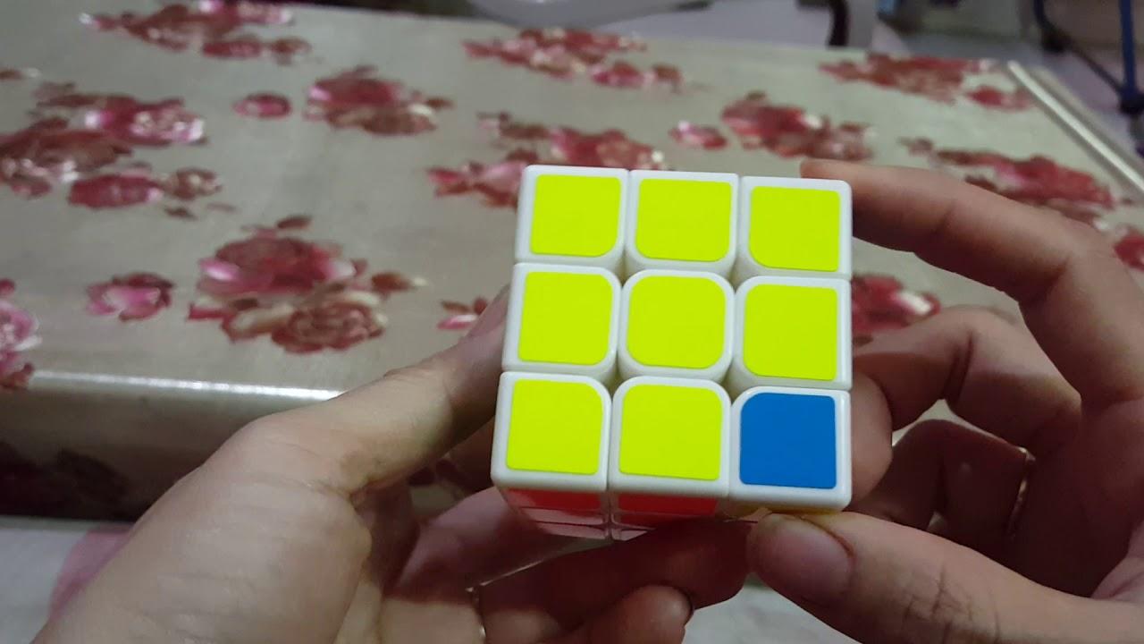 Cách giải rubik 3×3 – Bước 7 (bước cuối): ĐẢO MÀU CÁC VIÊN GÓC TẦNG ĐÁY