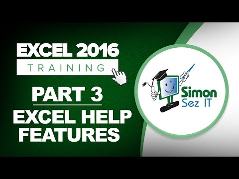 Excel 2016 for Beginners Part 3: Online Help and Contextual Help