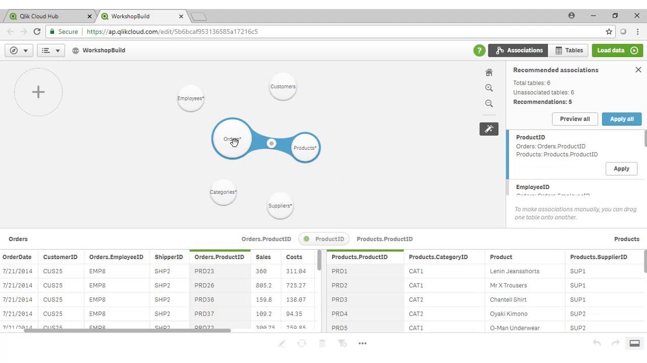 Qlik Sense Beginner Workshop 2 - Data Model