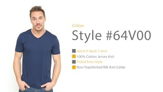 Check out the Gildan 64V00 Adult V-Neck T-Shirt | Blankapparel.ca