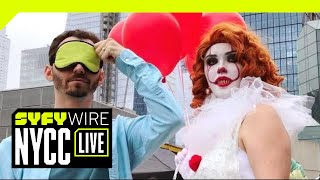 VR180 | 180° Three Questions | New York City Comic Con 2018 | SYFY WIRE
